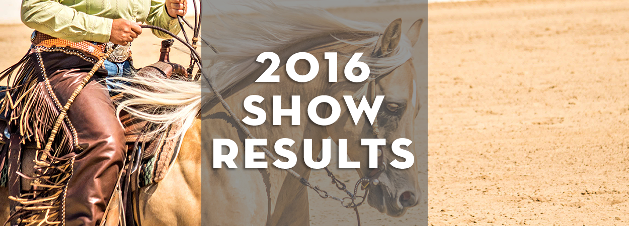 2016 Show Results
